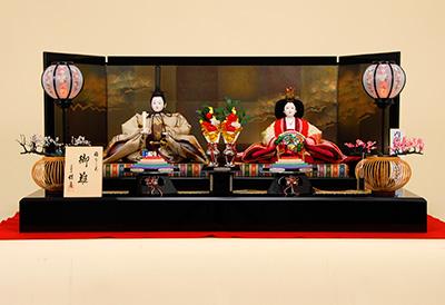 K-10 平飾り 雛人形 京都西陣帯 加納幸