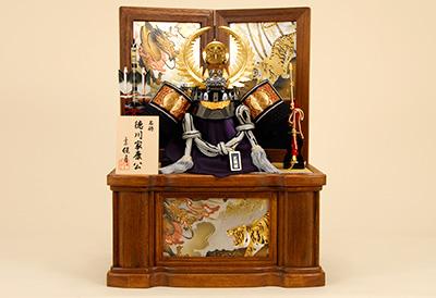 五月人形 K-11 徳川家康 着用兜 収納飾り