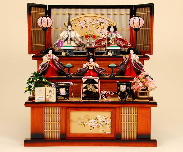 京都西陣帯  K-11 3段飾り 雛人形