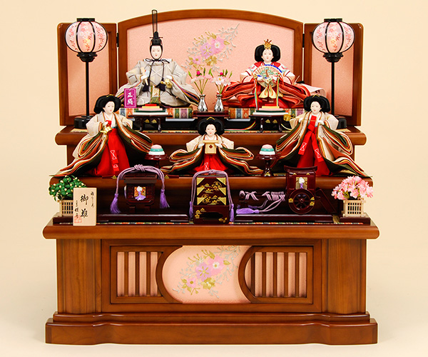 K-12 3段飾り 雛人形 京都西陣帯
