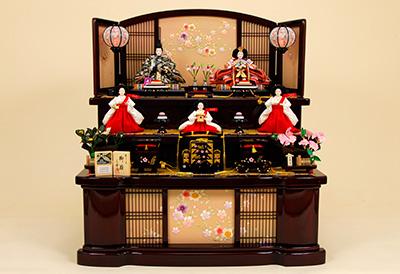 京都西陣帯  K-13 3段飾り 雛人形