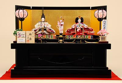 京都西陣帯 K-1 平飾り 雛人形
