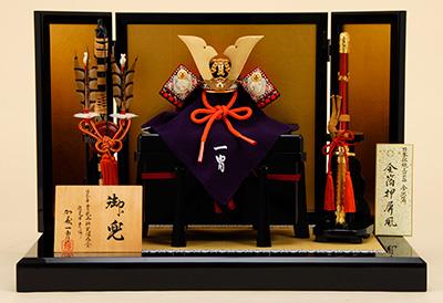 五月人形 K-201 四分の一 赤糸縅大鍬之御兜