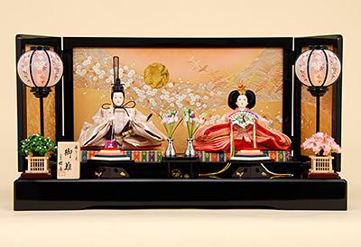 京都西陣帯 箔波錦織 K-2 平飾り 雛人形