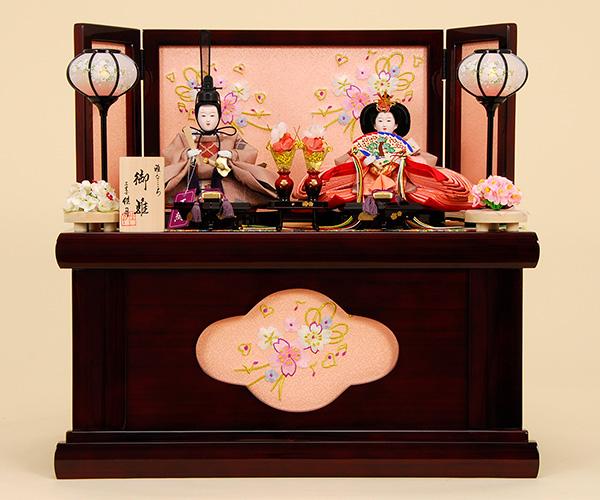 K-302 収納飾り 雛人形 京都西陣帯  武田菱文