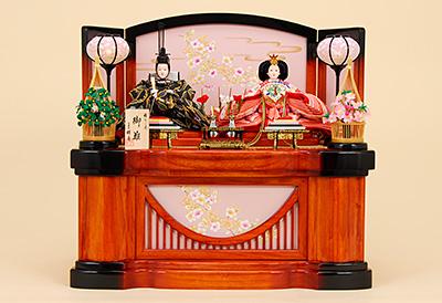 K-310 収納飾り 雛人形 京都西陣帯 箔屋清兵衛 雪月花