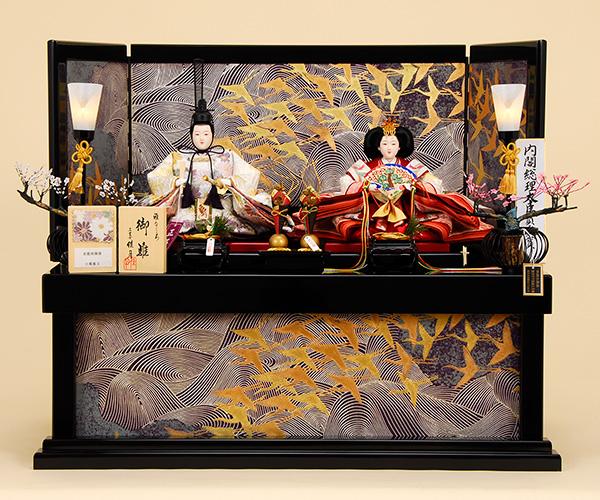 京都西陣帯 新小石丸  K-312 収納飾り 雛人形