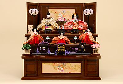京都西陣帯 箔屋清兵衛 雪月花 K-313 収納飾り 雛人形