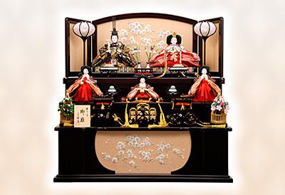 殿:純金雛  姫:プラチナ雛 K-316 収納飾り 雛人形