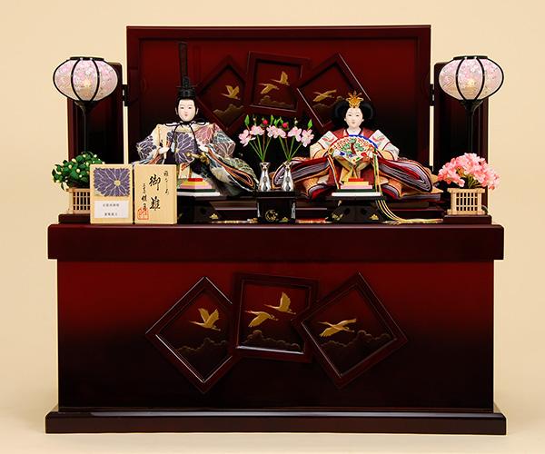 京都西陣帯 K-317 収納飾り 雛人形