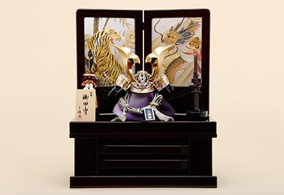 五月人形 K-33 翔龍彫金大鍬型 兜収納飾り
