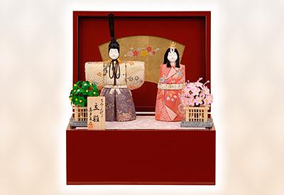 K-403 真多呂作 桜華立雛(1158) 木目込人形