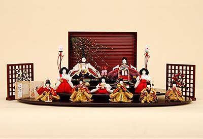 京都西陣帯 K-508 平飾り 雛人形