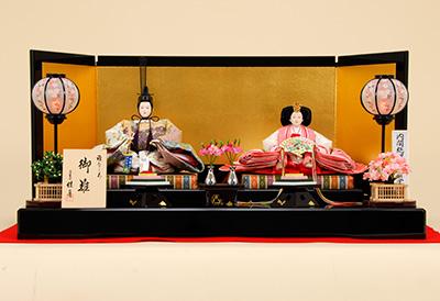 K-5 平飾り 雛人形 京都西陣帯 山口美術織物