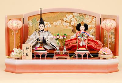 京都西陣帯 箔波錦織 K-6 平飾り 雛人形