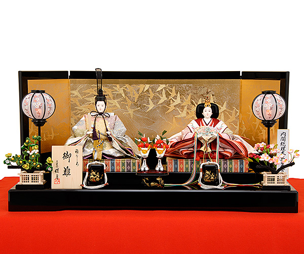 K-8 平飾り 雛人形 京都西陣帯 菊詰文様
