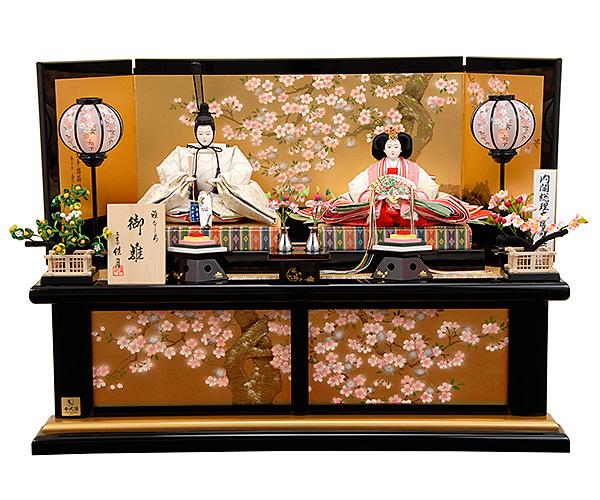 京都西陣帯 瑞鳥文綴織之御束帯(ずいちょうもんつづれおり) K-9 平飾り 雛人形