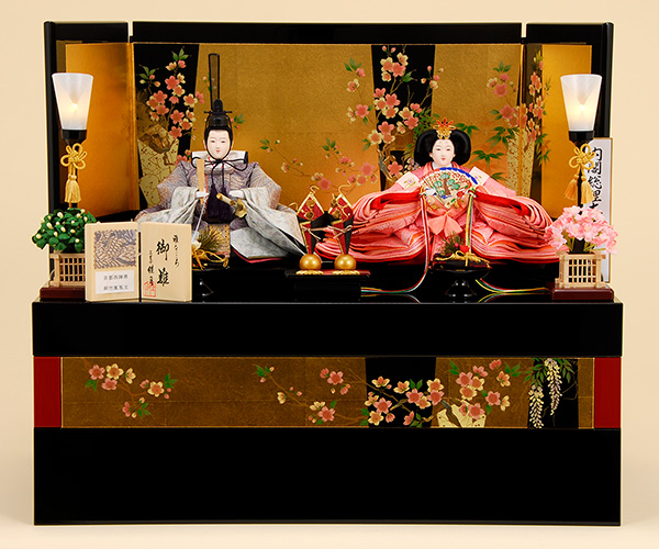 K-308 収納飾り 雛人形 京都西陣帯