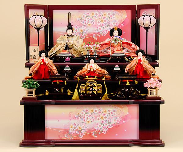 K-313 収納飾り 雛人形 京都西陣帯 箔屋清兵衛 雪月花