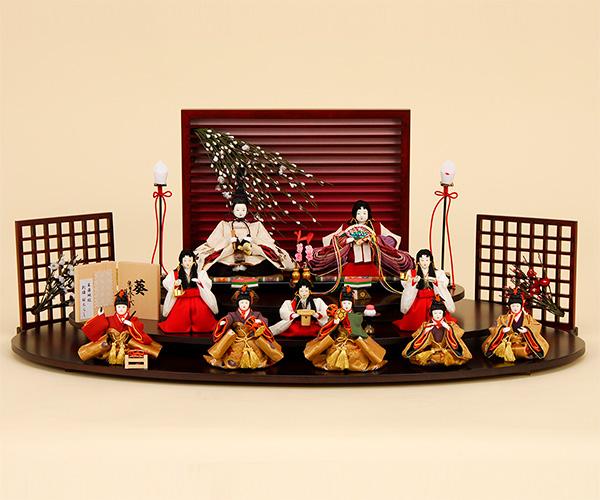 K-508 平飾り 雛人形 京都西陣帯