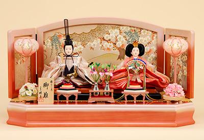 K-6 平飾り 雛人形 京都西陣帯 箔波錦織