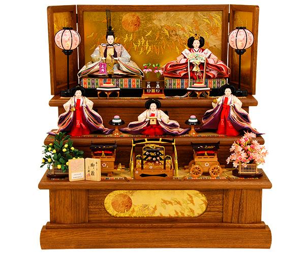 K-14 三段飾り 雛人形 京都西陣帯 【佳月オリジナル】