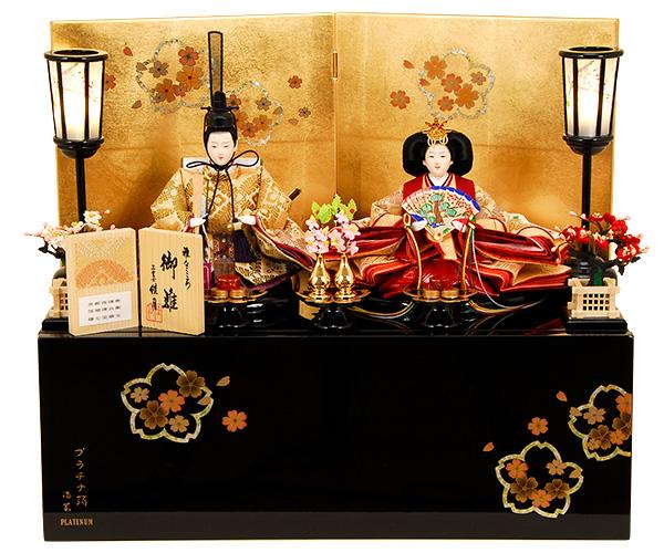 K-306 収納飾り 雛人形 京都西陣帯 箔屋清兵衛 藤七宝華文