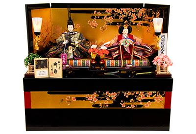 K-317 収納飾り 雛人形 京都西陣帯