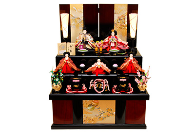 K-319 収納飾り 雛人形 京都西陣帯
