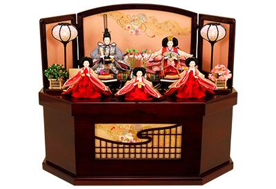 K-311 収納飾り 雛人形 京都西陣帯