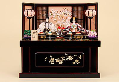 K-314 収納飾り 雛人形 京都西陣帯