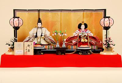 K-3 平飾り 雛人形 京都西陣帯 黄金ムガシルク 【佳月オリジナル】