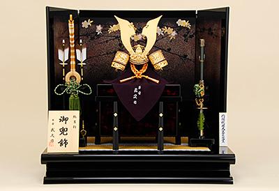 五月人形 K-405 京兜平飾り 15号総裏緋糸縅之兜