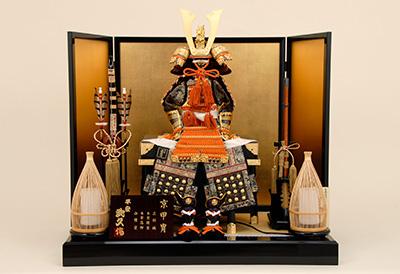 五月人形 K-408 京鎧平飾り 12号緋糸縅之鎧