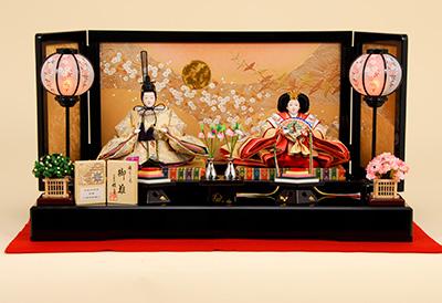 K-2 平飾り 雛人形 京都西陣帯 白樺高野槙文 【佳月オリジナル】