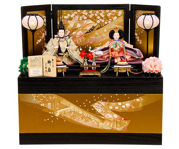 K-305 収納飾り 雛人形 京都西陣帯 箔波錦織