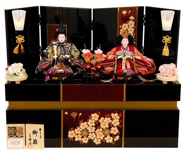K-307 収納飾り 雛人形 京都西陣帯