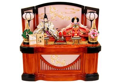 K-310 収納飾り 雛人形 京都西陣帯  七宝菊華文