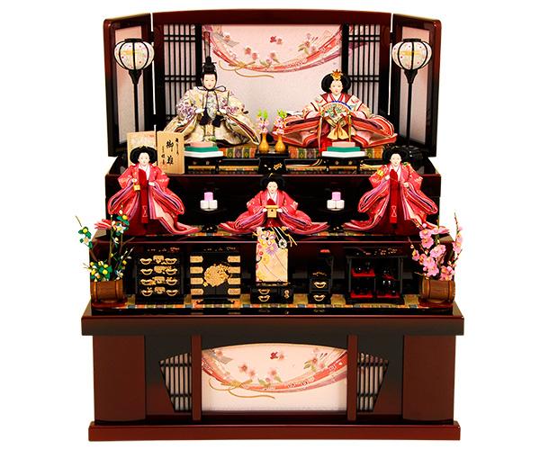 K-320 収納飾り 雛人形 京都西陣帯