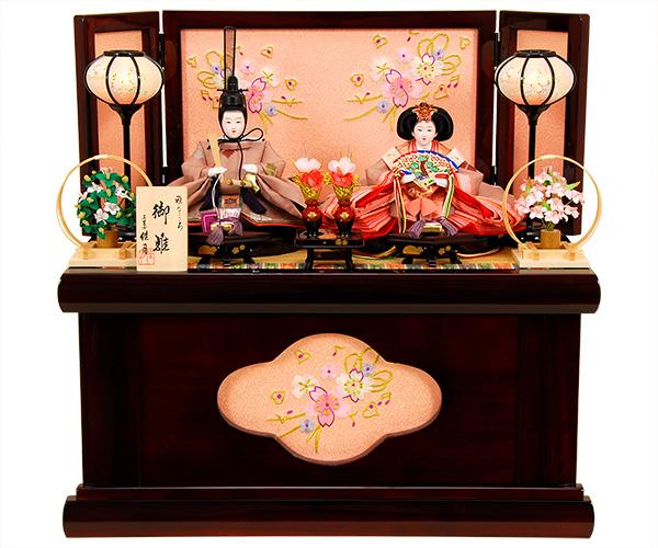 K-323 収納飾り 雛人形 京都西陣帯
