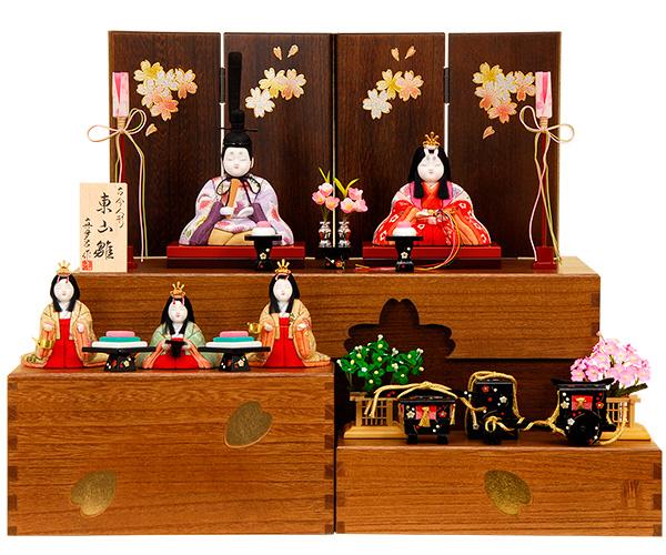 K-421 真多呂作 収納飾り 木目込人形