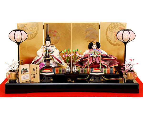 K-14 平飾り 雛人形 京都西陣帯 人間国宝木村雨山 【佳月オリジナル】