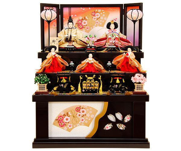 K-313 収納飾り 雛人形 京都西陣帯 七宝華菱文