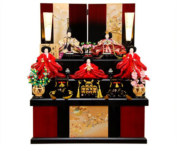 K-319 収納飾り 雛人形 京都西陣帯 小七宝文