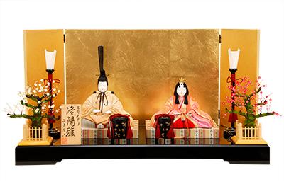 K-426 真多呂作 親王飾り【木目込人形】