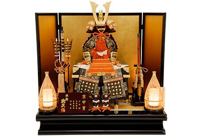 五月人形 K-408 京鎧平飾り 12号緋糸縅之鎧【京甲冑】