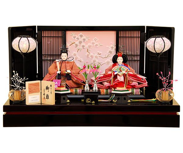 K-10 平飾り 雛人形 正絹着尺草木染の衣装 【佳月オリジナル】
