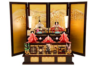 K-11 三段飾り 雛人形 京都西陣帯 【佳月オリジナル】