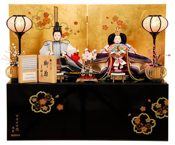 K-306 収納飾り 雛人形 京都西陣 手織真綿組織