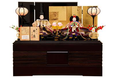 K-307B 収納飾り 雛人形 京都西陣帯 箔屋清兵衛 高台寺蒔絵